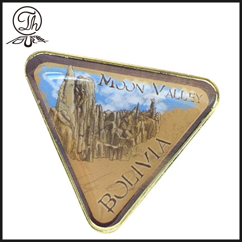 Stainless iron printing badge pin