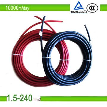 TÜV-Zertifikat 4 mm2 / 6 mm2 DC-Solar-PV-Kabel Solarpanel-Kabel