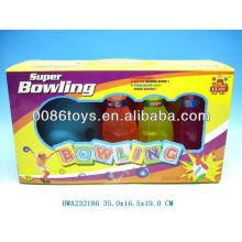 New design transparent kids plastic bowling set