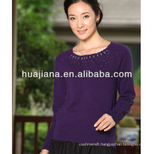 women blended Cashmere knitwear/Fashion round neck