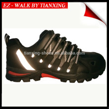 Sapatos de caminhada com couro genuíno e pé de aço