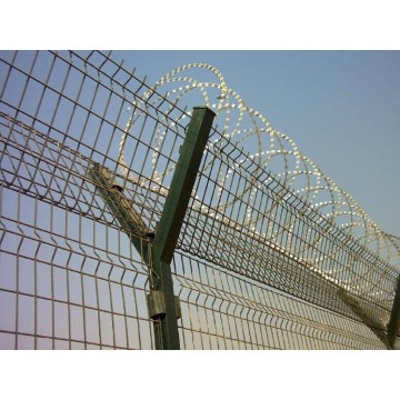 Airport Fence with Galvanized &PVC Coated