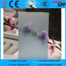 Verre givré bleu de lac 3-6mm avec AS / NZS 2208