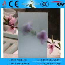 Vidro geado lago azul de 3-6mm com AS / NZS 2208