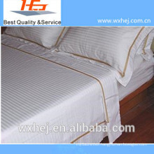 2014 new fashion wholesale white cotton stripe embroidery pillow case manufacturer