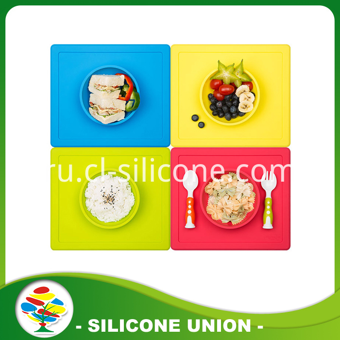 Multicolor silicone placemat