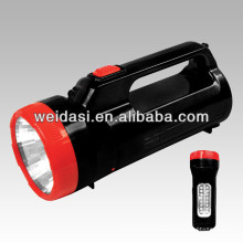 LED Rechargeable High Power Hand Light,Plastic Emergency Searchlight and Super Brightness Handlamp