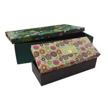 Luxury Printing Flower Flat Pack Shoes Box