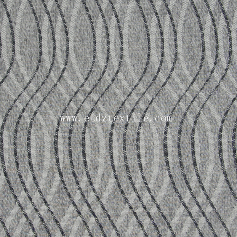 6014 Grey European Popular Fabric Dyed Wind Curtain