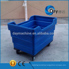 HM-4 PE plastic basket of dirty laundry,big sink laundry equipment used in hotels, STOCK hospital linen trolley