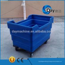 Cesta plástica do HM-4 PE da lavanderia suja, equipamento grande da lavanderia do dissipador usado nos hotéis, trole de linho hospitalar