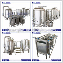 Sistema de cervecería de dos buques calentado por gas / vapor / eléctrico