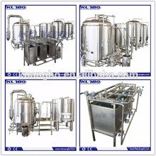 Craft beer made by stainless steel brewhouse for pub, restaurant etc