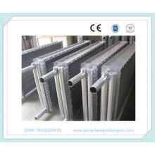 Intercambiador de calor de aire de tubo con aletas para el secado de madera