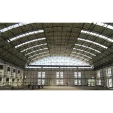 Hangar de aeronaves pré-fabricadas de aço de estrutura de fardo de grande extensão
