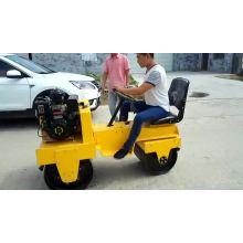 double steel wheel driver road roller
