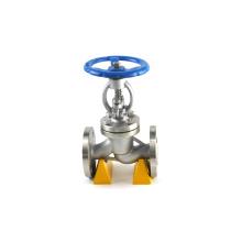 JKTL vente chaude gaz moyen DIN standard soufflet joint 2 300lb wcb robinet à tournant sphérique bridé