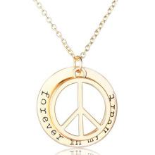 Novas letras iniciais da moda Ziron Necklaace Locket colar de pingente de ouro