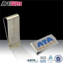Carte de crédit de clip personnalisé en métal souvenir argent