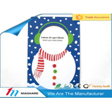 snowman new photo funny magnetic picture frame