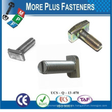 Made in Taiwan Nach Kunden Zeichnung Slotted Dove Tail T Bolt