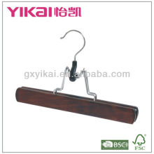 Family using luxury wooden trousers hanger
