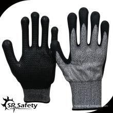 SRSAFETY нитрильное покрытие и перфорированные перфорированные перчатки
