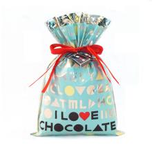 Sac cadeau en pastic bleu pour la Saint Valentin