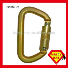 50kN Steel D Type Carabiner Carabiner Triple Lcok Hook For Rescue