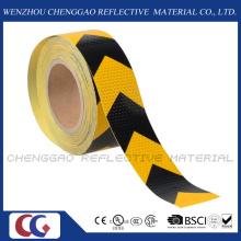 Rouleaux de PVC noir et jaune autocollant réfléchissant avec flèche (C3500-AW)