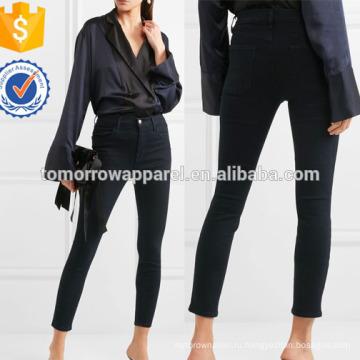 Укороченные высотных узкие джинсы оптом производство модной женской одежды (TA3058P)