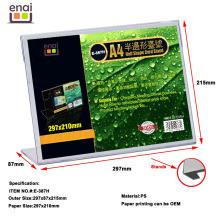 Mais barato mas de alta qualidade plástico PS Card Display Stand como titular do sinal