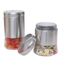 Good quality stainless steel bottle glass storage jar