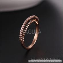 Anel de casamento em ouro Rose VAGULA moda (Hlr14176)