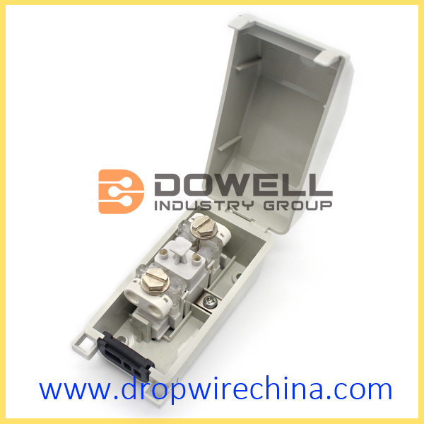 1 pair Terminal box with drop wire module
