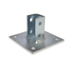 Hot Dip Stahlkanal Armaturen Zubehör verzinktem Stahl quadratischen Basisplatte
