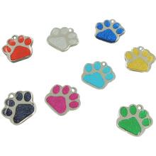 2016 Hot Sales Pet Gift Metal Glitter Epoxy ID Etiqueta de perro para mascotas (W-20)