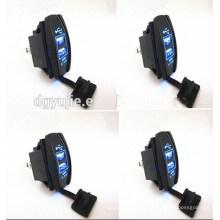 12 V 24 V 3.1A Coche de la motocicleta Dual USB fuente de alimentación Cargador Puerto Socket