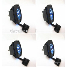 12V 24V 3.1A Motorcycle Car Dual USB Power Supply Charger Port Socket