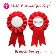 Badge Broche promotionnel couleur rouge