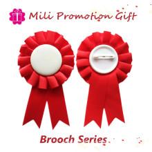 Red Color Promotion Brooch Badge