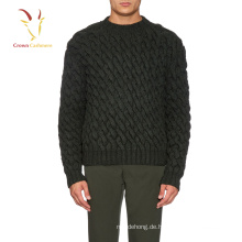 Mens Merino Wolle Chunky Kabel stricken Winter Pullover Pullover