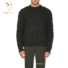 Pull à manches longues en laine mérinos pour hommes