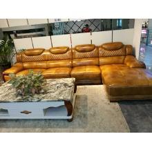 Neue Ankunft moderne Ledercouch, Europa Stil Sofa (A62)