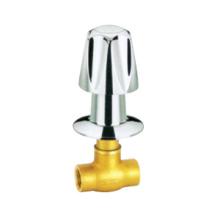 J4005 válvula de parada de latón pn16, válvula de parada con mango cromado / niquelado