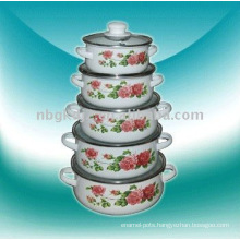 5pcs enamel casserole sets