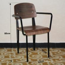Chaise à bras standard en acier tubulaire Jean Prouve (SP-EC701)