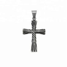 33753 xuping série Religion 2018 Pendentif croix couleur de pistolet noir de conception simple