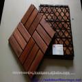 Piso de madera del jardín Suelo de la cubierta de DIY 12 tablillas Alta calidad