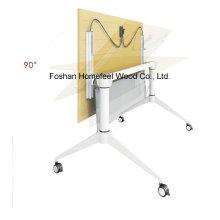Металлический складной учебный стол с роликами (LS-718)